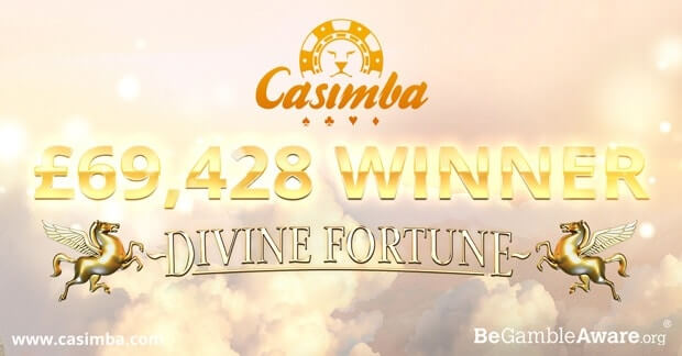 Divine Fortune Jackpot won at Casimba