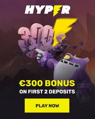 hyper casino welcome bonus offer