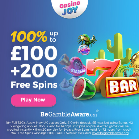 casino joy welcome bonus offer