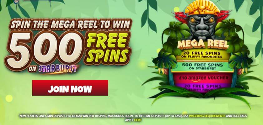 jungle reels welcome bonus