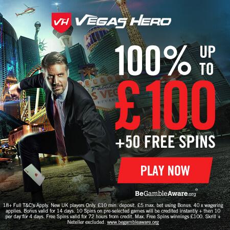 vegas hero welcome bonus offer