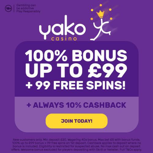 yako casino welcome bonus offer