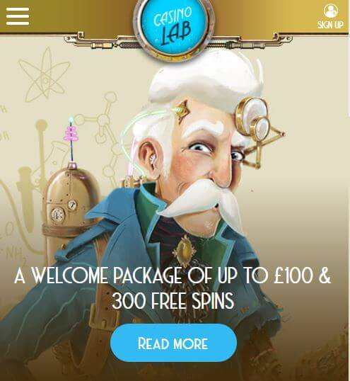 casino lab welcome bonus
