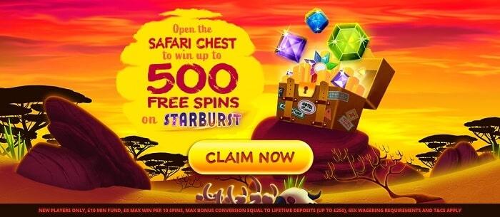 simba slots welcome bonus offer