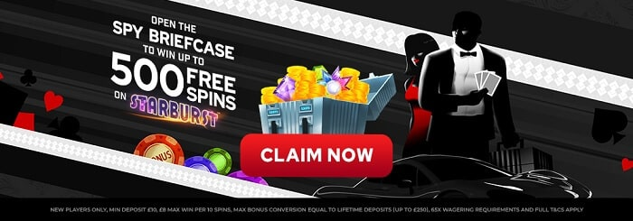 spy slots welcome bonus offer
